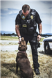 Officer Gilbert with K-9 Annie