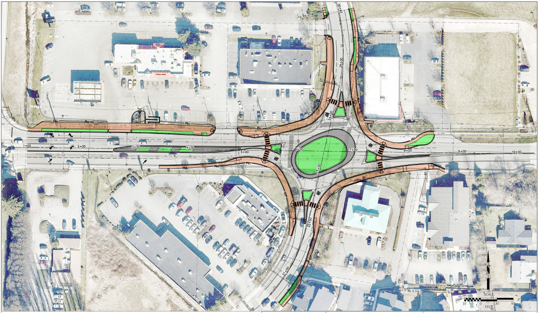 Design of 204th roundabout project at 60% completion