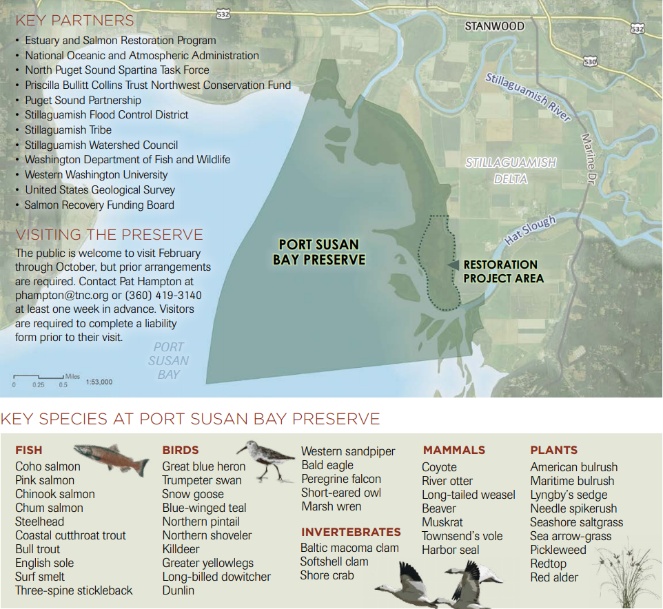 port susan bay map
