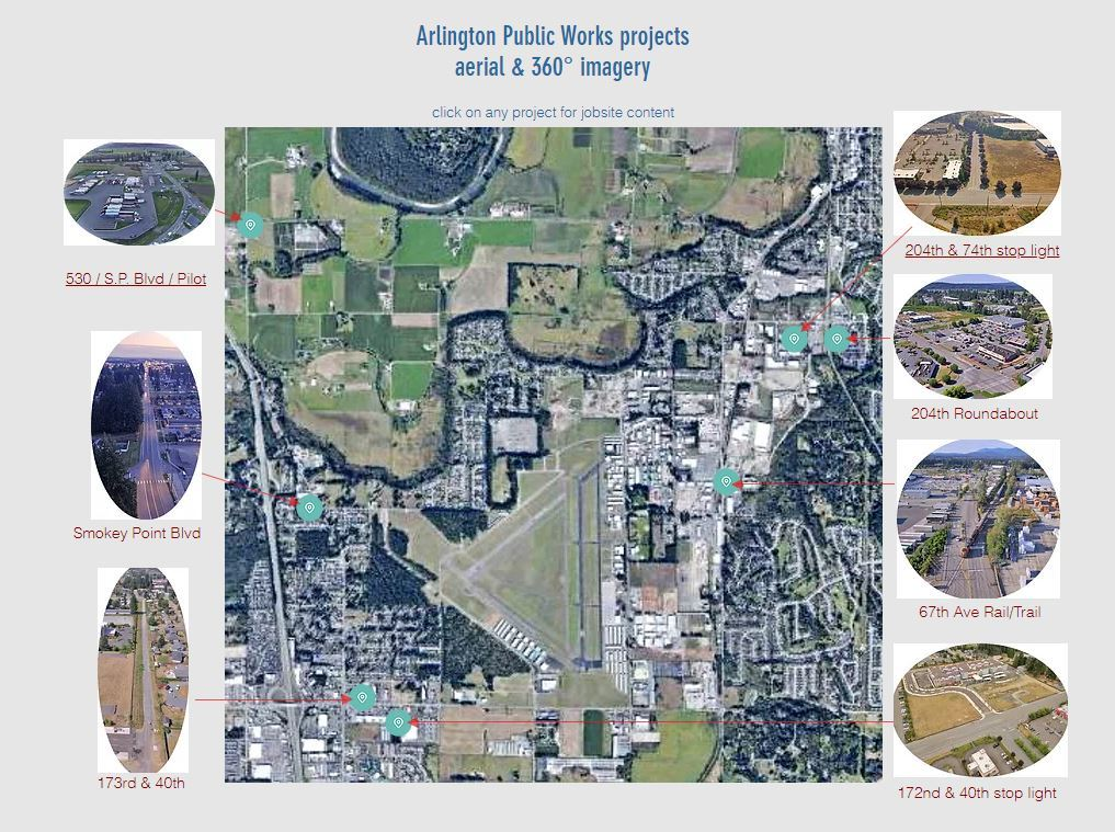 Arlington Public Works projects aerial & 360° imagery Opens in new window